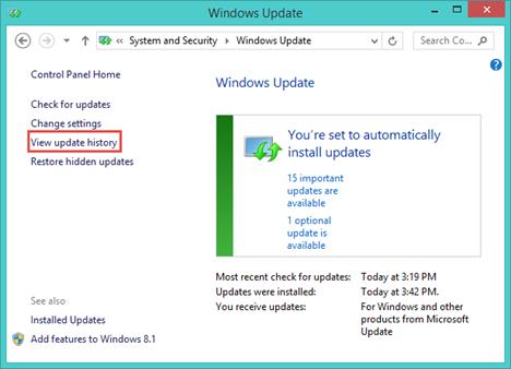 Windows Update, review, updates, hidden, restore