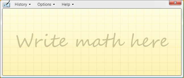 Math Input Panel, Windows