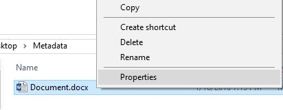 file, metadata, document, picture, Windows, properties