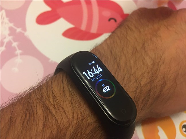 The main screen shown by the Xiaomi Mi Smart Band 4