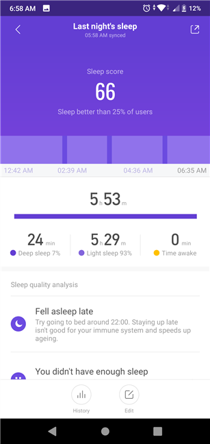 Sleep tracking with the Xiaomi Mi Smart Band 4 is not accurate