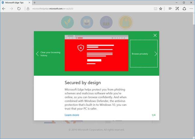 Microsoft Edge, Windows 10