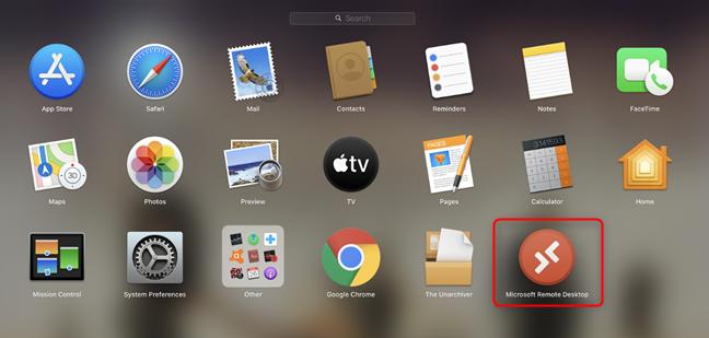 Click on Microsoft Remote Desktop