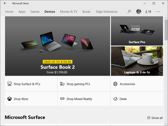 Windows 10, Microsoft Store