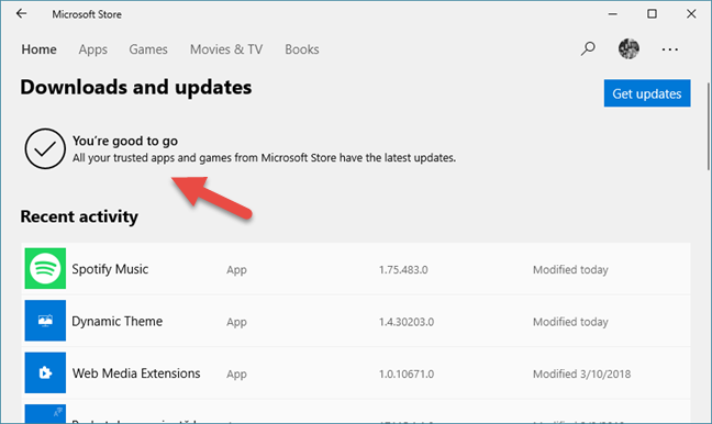 All app and game updates are installed by the Microsoft Store
