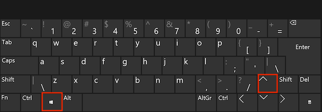 Simultaneously press the Windows and Up arrow keys