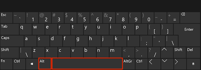 Press Alt and Spacebar simultaneously on your keyboard