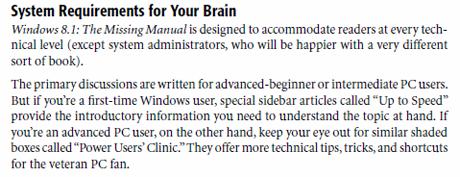 Windows 8.1, The Missing Manual, review, David Pogue