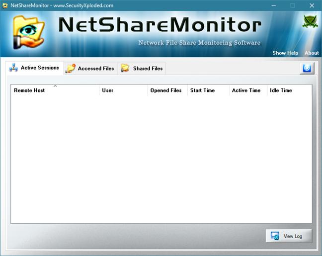 The NetShareMonitor window