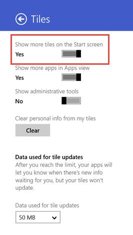 Windows 8.1, Start Screen, tiles, more, display