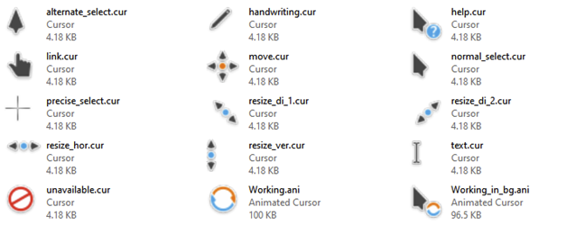 Breeze Cursors for Windows