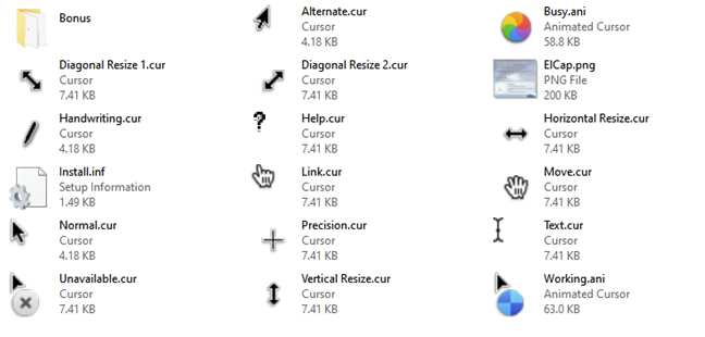El Capitan Cursors for Windows