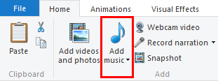 Windows, Movie Maker, add, music, videos