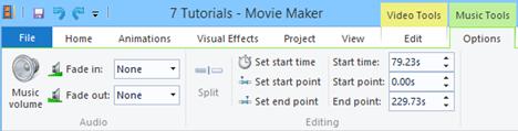 Windows, Movie Maker, add, music, videos