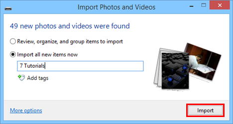 Windows, Movie Maker, import, pictures, videos