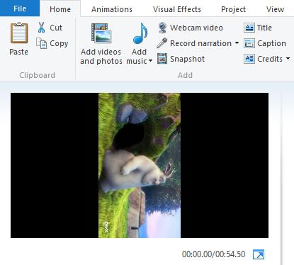 Windows, Movie Maker, rotate, video