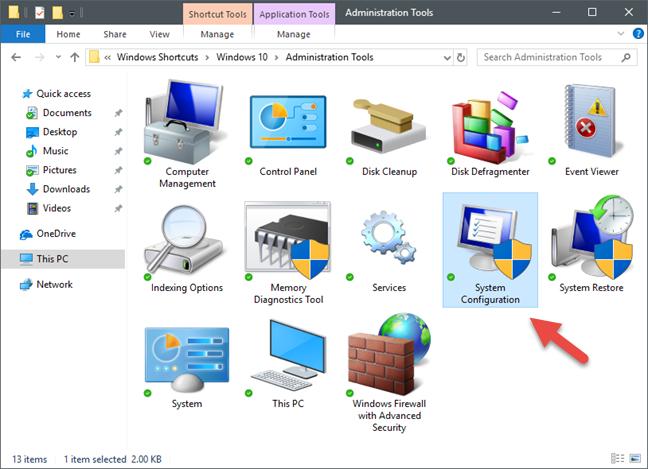System Configuration, msconfig