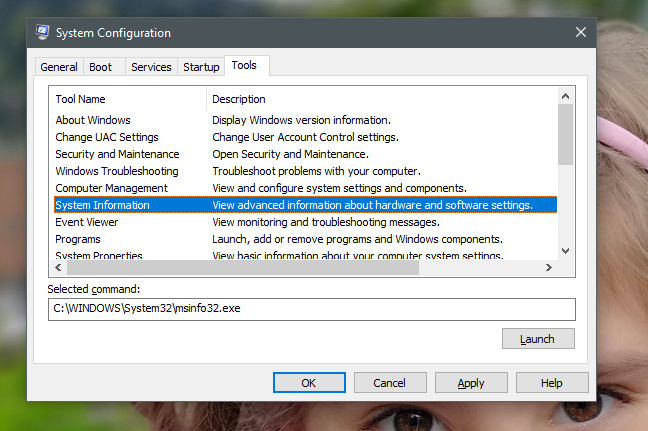 System Configuration, msconfig, Windows