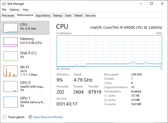 MSI GT76 Titan DT 9SG: The Intel Core i9-990K usually reaches 4.8 GHz