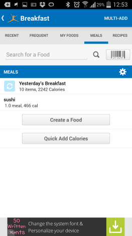 MyFitnessPal, log food, calories, how to
