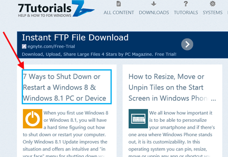 Ease of Access Center, Windows 8.1, Narrator