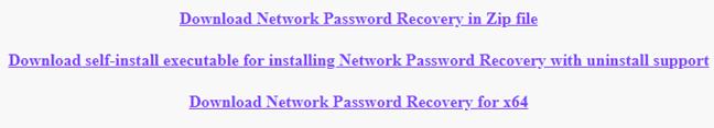 Network Password Recovery, netpass, Windows