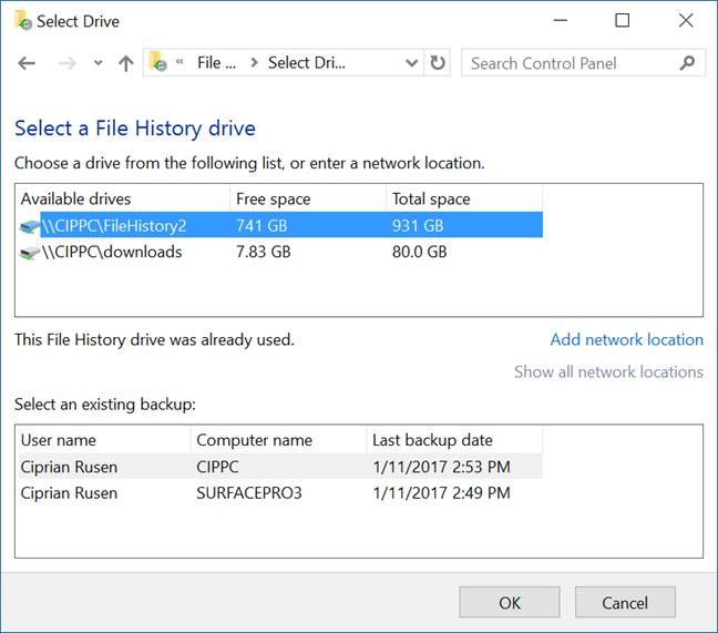 Windows, Advanced sharing settings