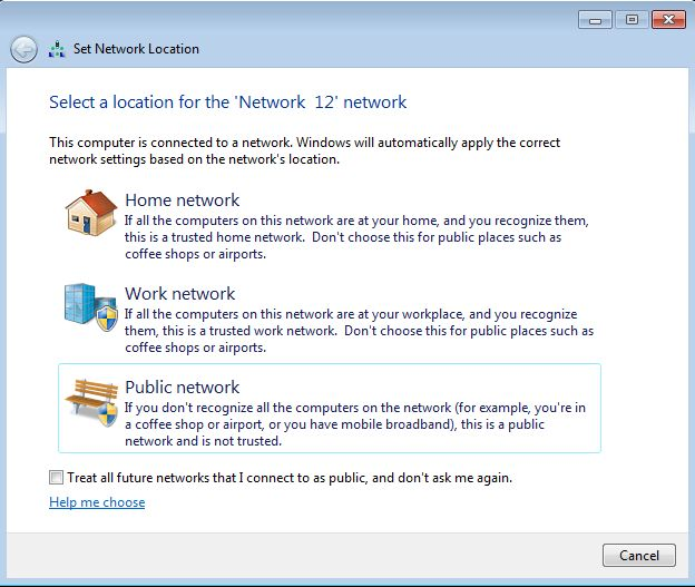 Windows, network, locations, profile, home, work, private, public, sharing, settings