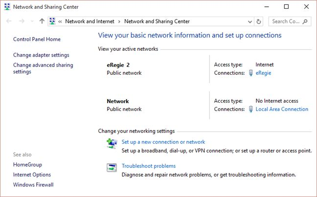 Network, Sharing, Center, Windows, Control Panel