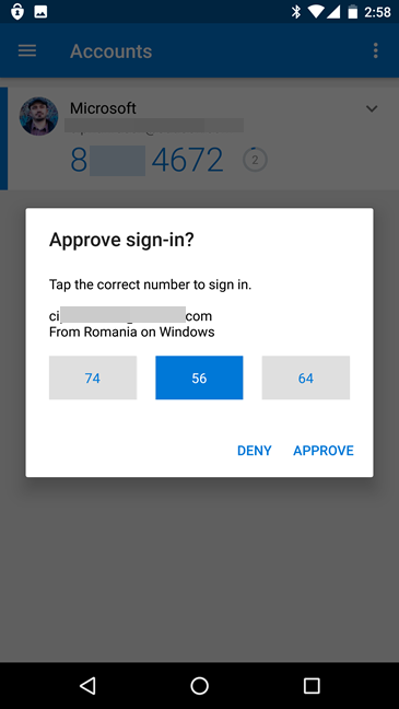 Microsoft, sign in, Authenticator