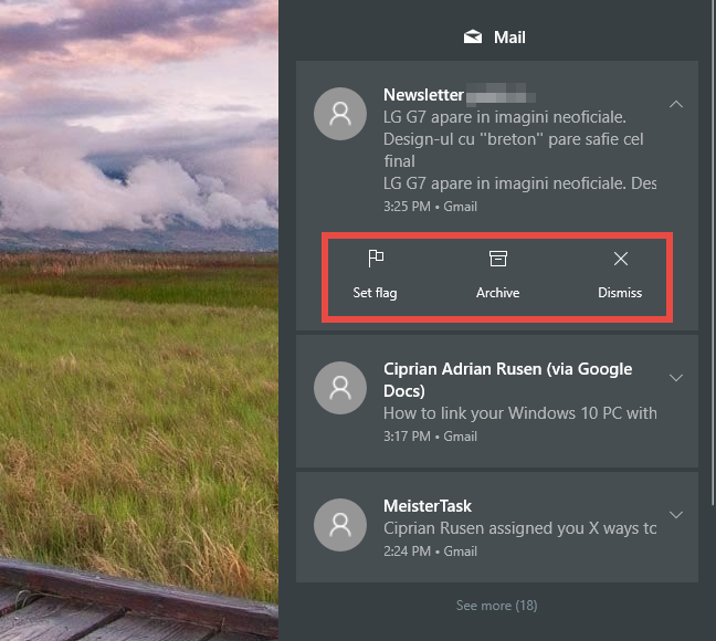 Windows 10, notifications, Action Center
