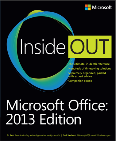 Microsoft Office Inside Out: 2013 Edition, book, Microsoft Press
