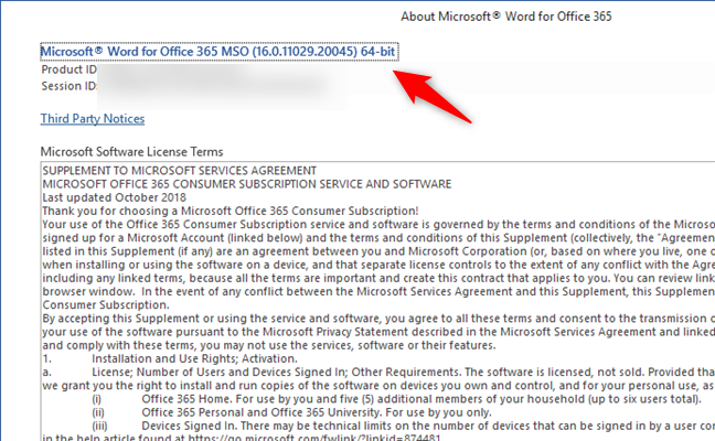 Checking whether you have Office 365 64-bit
