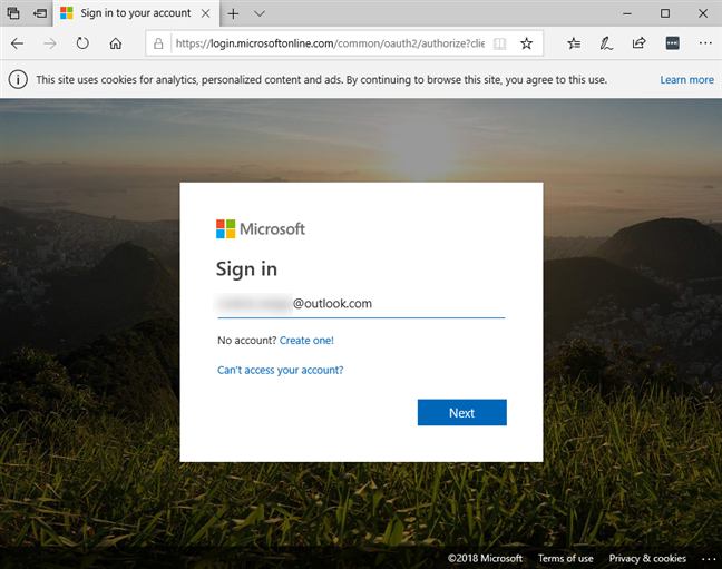 Signing into your Microsoft account