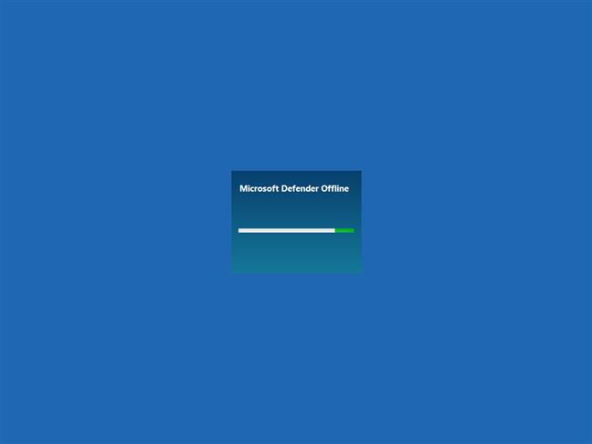 Microsoft Defender Offline is loading