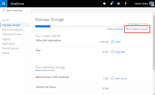 OneDrive, large, files