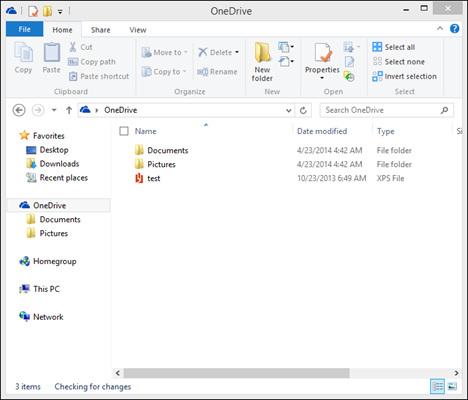 OneDrive, Windows 8.1, folder, change, location