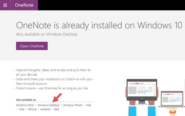 OneNote, Windows