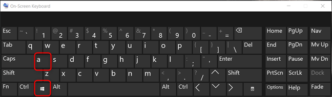 Open the Action Center in Windows 10 using the keyboard