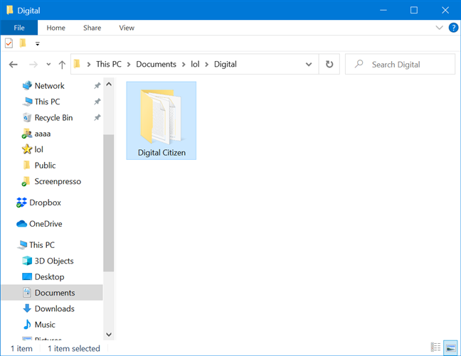 Open folders in File Explorer
