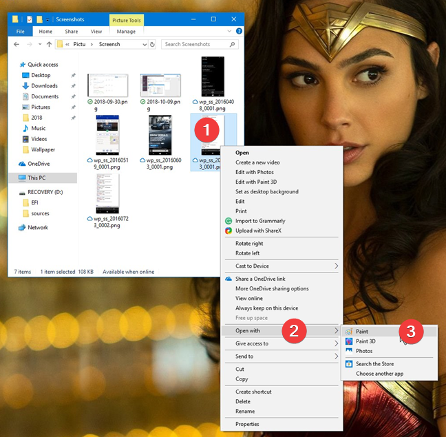Open Paint from File Explorer in Windows 10