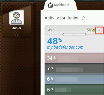 Bitdefender, Parental Control, reports, activities, statistics