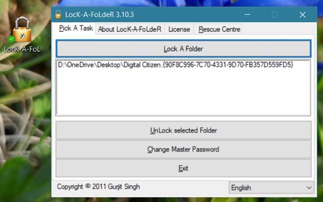 Password protect, folders