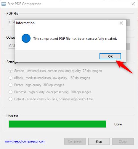 El PDF se hizo más pequeño