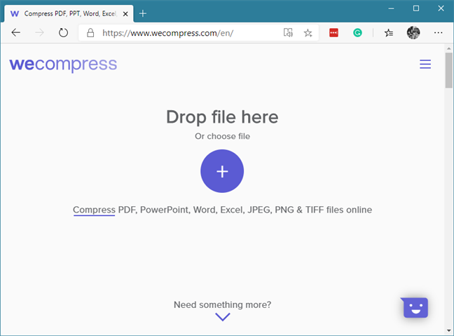 El sitio web wecompress.com