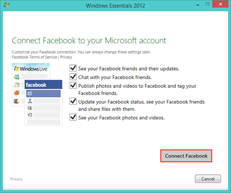 Windows, Photo Gallery, upload, pictures, Facebook