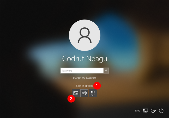 Choosing to sign in to Windows 10 using a picture password