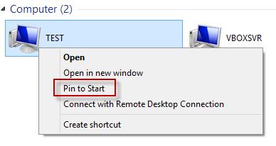 Windows 8 - Pin Folders