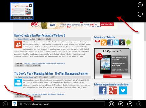 Windows 8 - Pin Websites