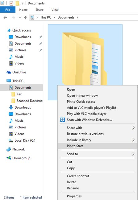Windows 10, Start Menu, pin, apps, folders, libraries, items, Start